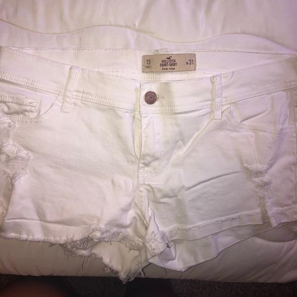 Hollister Pants - Women's white denim shorts size 13